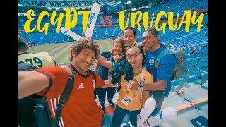EGYPT vs URUGUAY!!   Russia World Cup 2018 Vlog