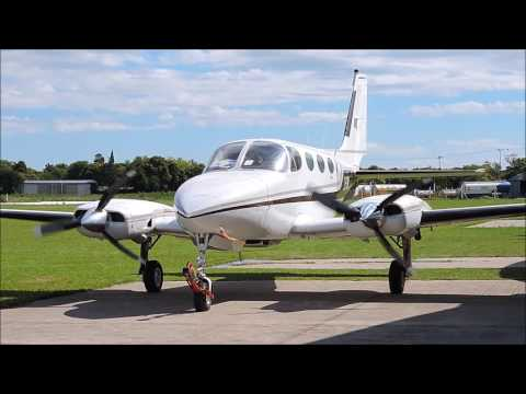 Cessna 340 LV-CYM en aerodromo Coronel Olmedo (Cordoba)
