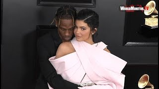 Kylie Jenner and Travis Scott Kissing at 2019 Grammy Awards Red carpet