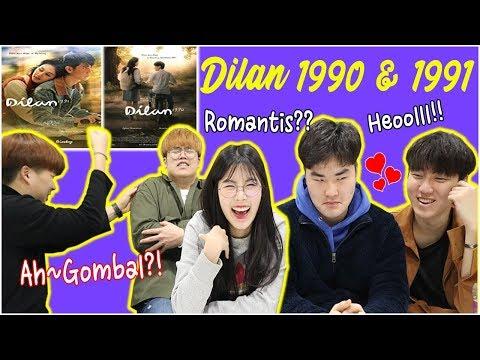 RECEH RECEH GOMBAL REAKSI ORANG KOREA NONTON DILAN 1990 &1991 인도네시아 영화 DILAN 줄거리 영상 보기!!
