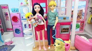 Miraculous Ladybug Doll Family LOL Surprise Baby Morning routine House Cleaning Bébé Miraculous