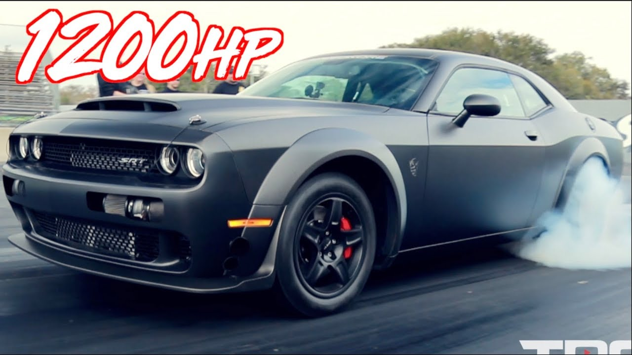 hight resolution of carbon fiber twin turbo dodge demon 1200hp on stock engine
