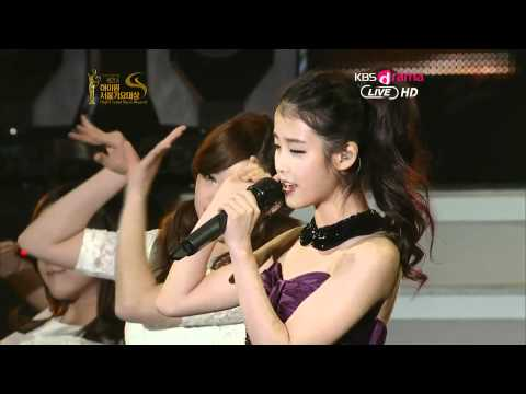 120119 IU - Good Day (Acapella Ver.) + You & I [Live - KBSJoy The 21st Seoul Music Awards]