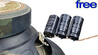 How to increase bass treble for speakers with bank Free Capacitor. How to use polarization capacitor