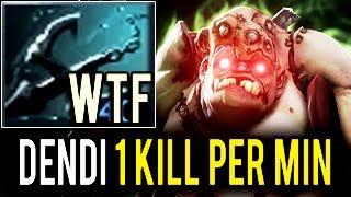 1 KILL PER MIN Brutal Pudge Carry Impossible Hook by Dendi 7k Legend Dota 2