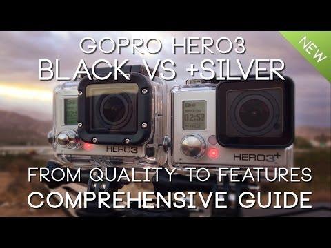 SIDE by SIDE GoPro HERO3 BLACK vs HERO3+ SILVER