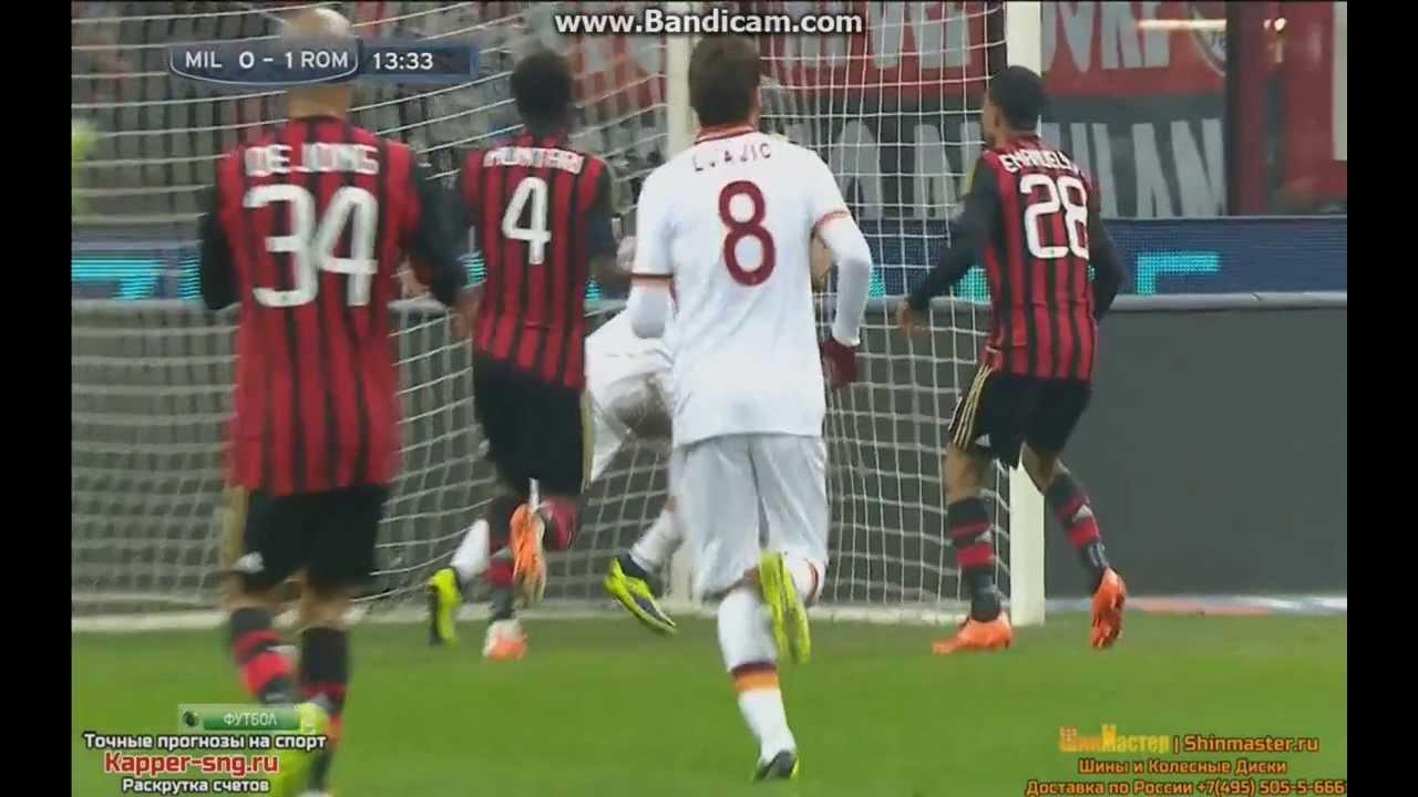 0 1 Ac Milan As Roma Goal Mattia Destro 16 12 13 Hd Milan Roma Destro Youtube