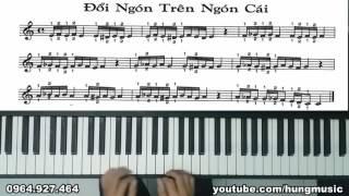 Hướng dẫn luyện ngón piano - Bài 13 đổi ngón trên ngón cái - Hùng Music