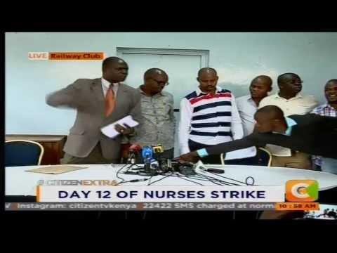 Kenya National Union of Nurses public altercation