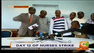 Nurses' union bosses in chaotic altercation on live TV