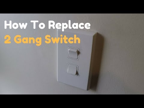 How To Replace a 2 Gang (Double) Light Switch - YouTubeYouTube
