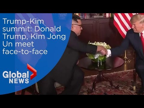 Trump-Kim summit: Donald Trump, Kim Jong Un all smiles in first meeting