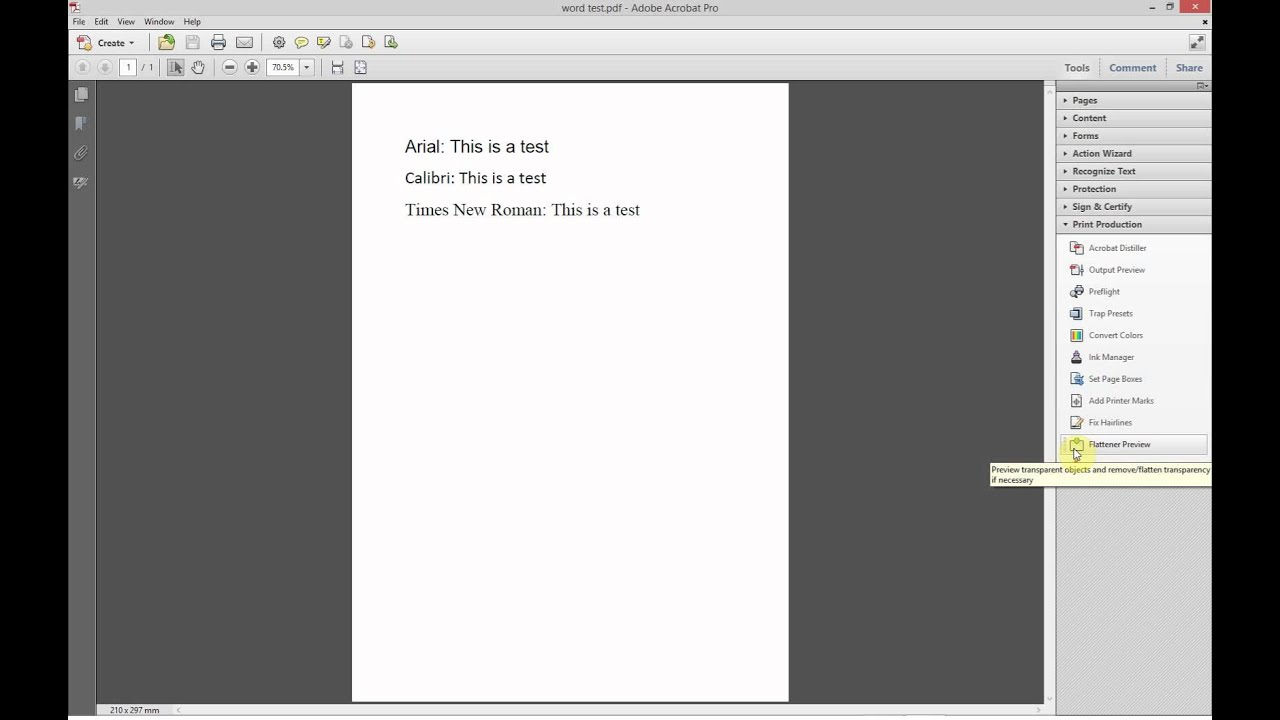 How to outline fonts using Acrobat Pro