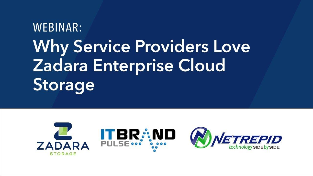 Webinar Why Service Providers Love Zadara Enterprise Cloud Storage