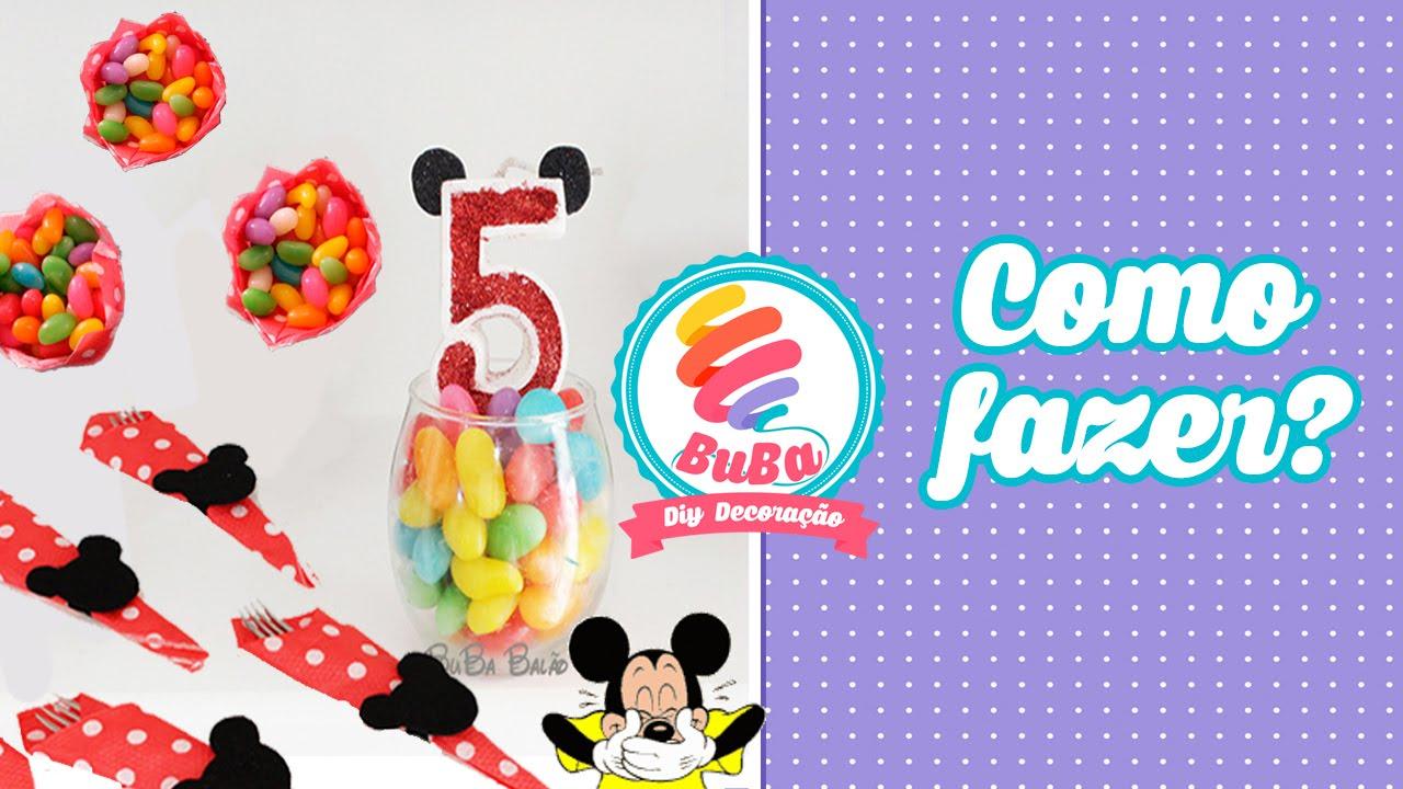f72a86014 Como Fazer Decoração Festa Mickey com coisas Simples e econômica ...