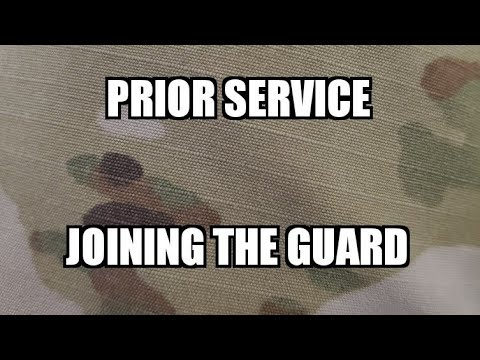 Prior  Service Joining The ARMY National Guard