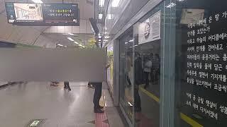 6호선 안암행 열차 합정역 진입