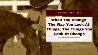 When you change the way you look at things.......