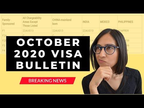 Visa Bulletin October 2020 | Visa Bulletin Update (good News For Some Categories)