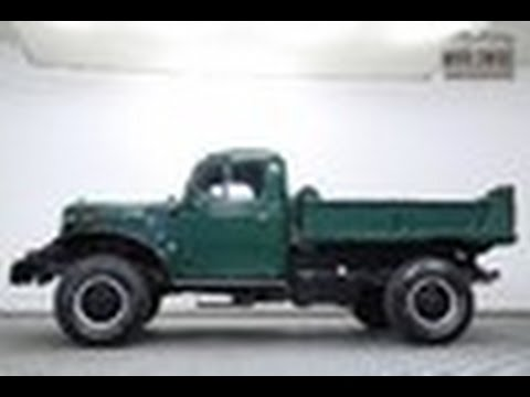 1947 DODGE POWER WAGON RARE DUMP BED WDX PTO AND WICNH ...