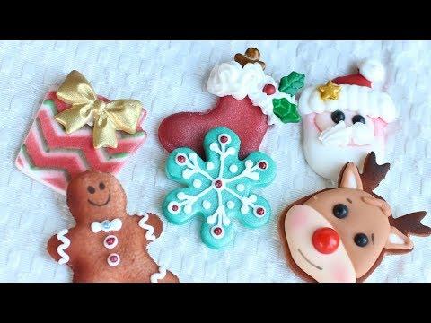 DIY Christmas Cupcake Toppers - Fondant & Royal Icing Decorations