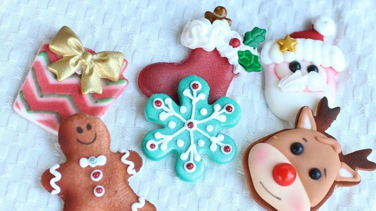 Christmas Cupcake Toppers.Christmas Dessert Diy Christmas Cupcake Toppers Fondant Royal Icing Decorations