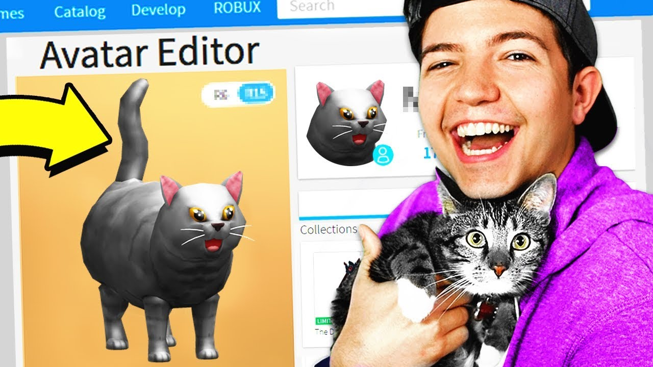 MAKING MY CAT A ROBLOX ACCOUNT!