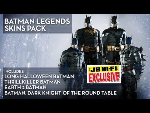 Batman: Arkham Origins - Batman Legends Skins Pack