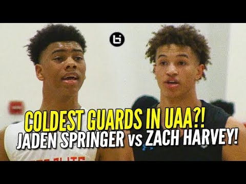 CRAZY GUARD BATTLE! Jaden Springer vs Zach Harvey! UAA Highlights!