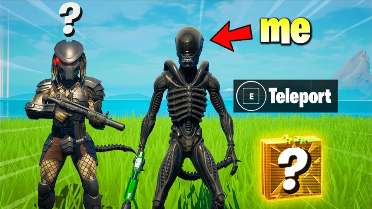 I Pretended to be XENOMORPH (ALIEN) in Fortnite