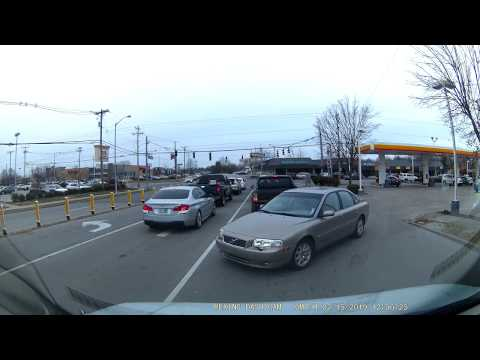 Old Lady Goes The Wrong Way On Lane Allen Rd - Lexington, KY