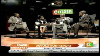 Power Breakfast Interview: Devolution Report
