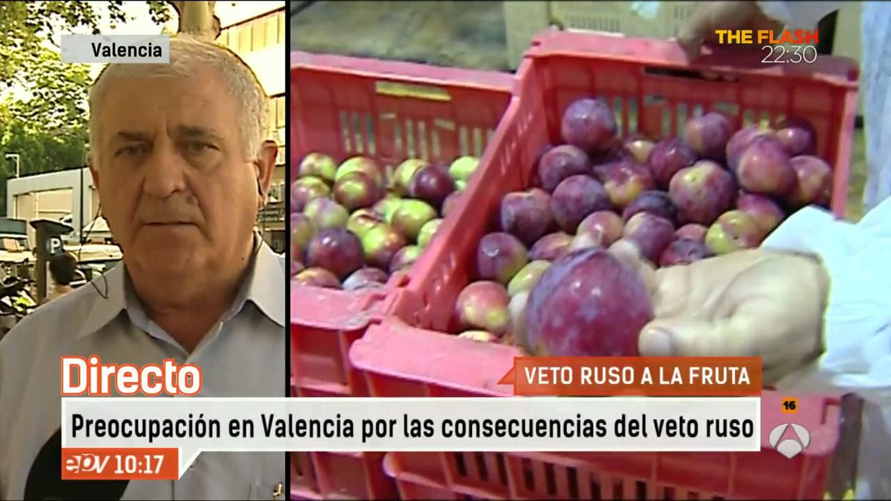Preocupaci n por el veto ruso a la fruta en valencia espejo p blico youtube - Espejo publico hoy ...