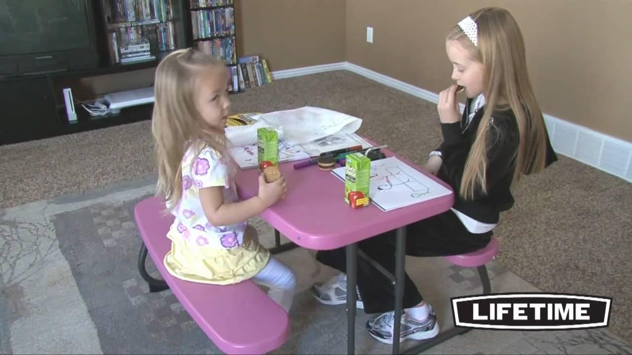 Lifetime Kids Picnic Table Pink Model 80156 Youtube