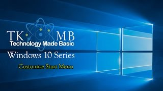 Customize Start Menu Windows 10