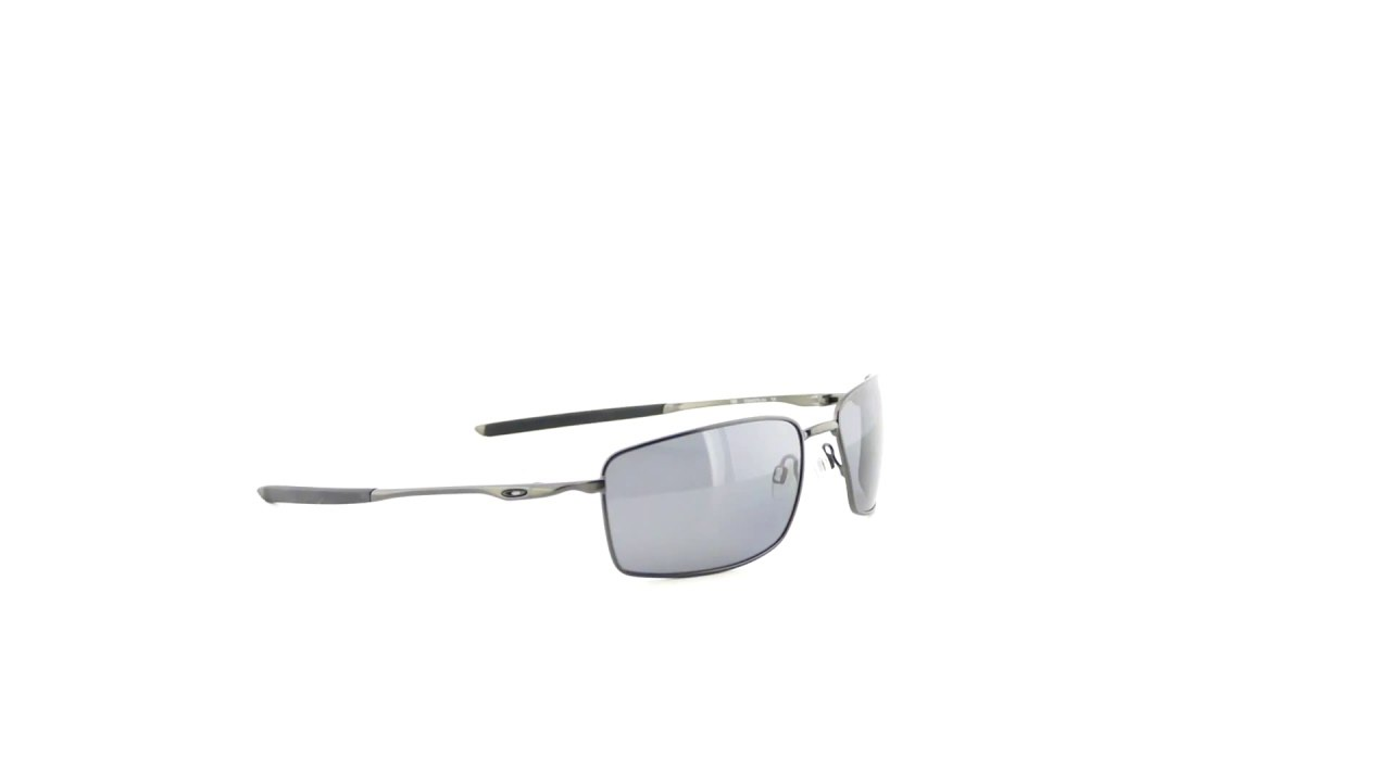 44771b4baad Oakley Square Wire Carbon Grey Polarized - OO4075-04 - YouTube