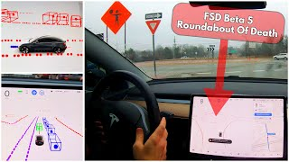 Elon Musk says Tesla FSD Beta 5 is a HUGE Improvement - Downtown, Rain, Roundabouts, Construction