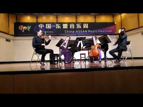 Cha^m performed by Hanoi New Music Ensemble stringquartet in Nanning 2017