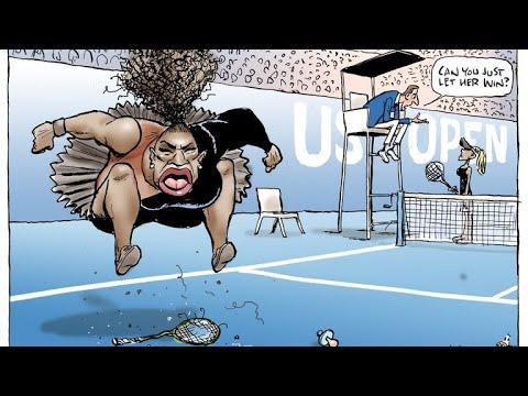 """Cartoonist behind Serena Williams cartoon deemed """"racist"""" defends illustration"""