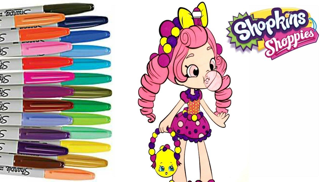 Shopkins shoppies dolls coloring page - Shopkins Shoppie Bubbleisha Coloring Book Page How To Color Shoppie Dolls