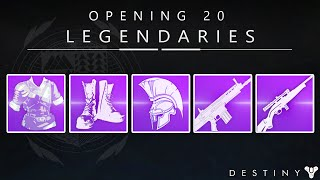 Destiny: Opening 20 Legendary Engrams! The Search For Faction Gear!