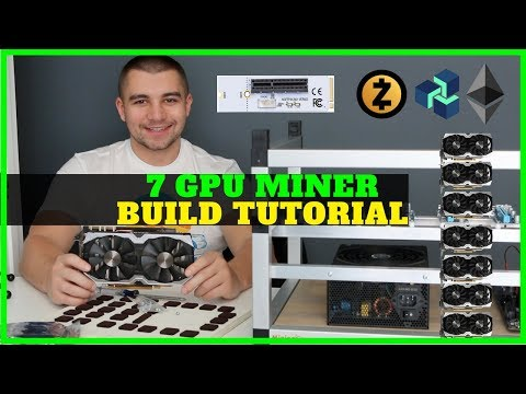 How To Build Nvidia 7 GPU Mining Rig - M.2 PCIE Adapter - Ethereum / ZCash / ZenCash / Vertcoin