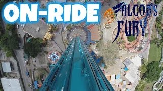 Falcons Fury 335 FT Mounted On-ride (HD POV) Busch Gardens Tampa Bay