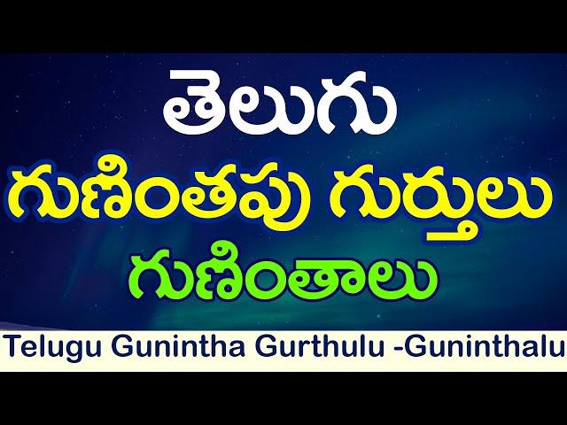 Gunithapu Gurthulu ???????? ???????? - ????????? :Learn Telugu guninthalu : ? ??????? : guninthalu