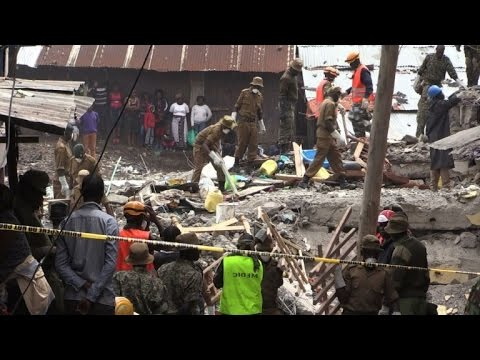 Baby girl rescued four days after Kenya building collapse