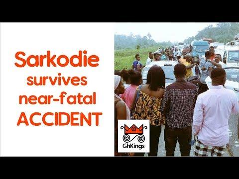 Sarkodie & Amakye Dede survive near-fatal accident