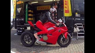 My first ride on a Panigale V4 @ Pirelli superbike trackday