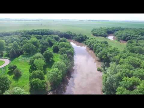 Drone Footage - Red River - Fargo, North Dakota