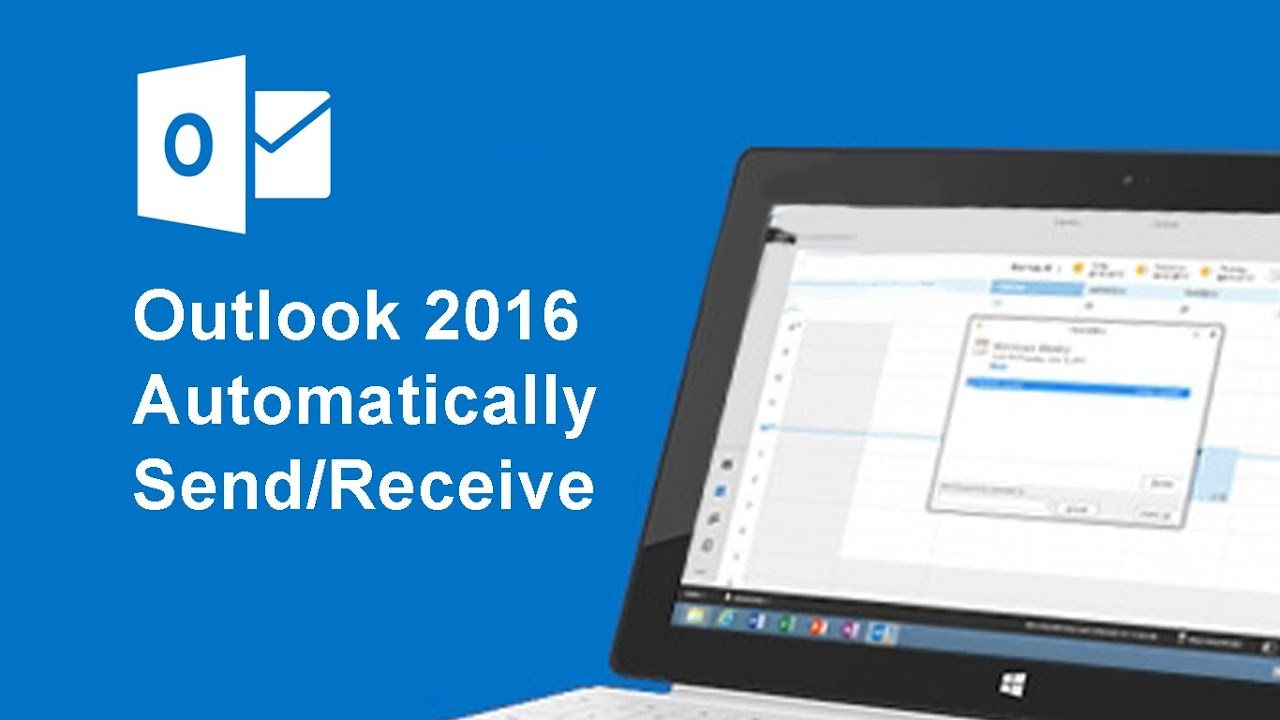how to change send receive time in outlook 2010