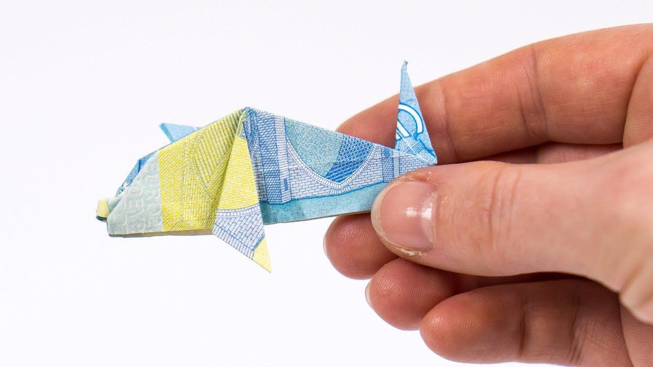 Geld Falten Delfin Einen Fisch Aus Einem Geldschein Falten Youtube